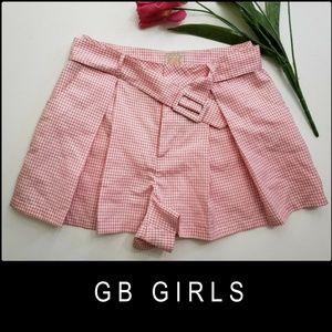GB Girls Woman Girls Plaid & Check Pleated Shorts